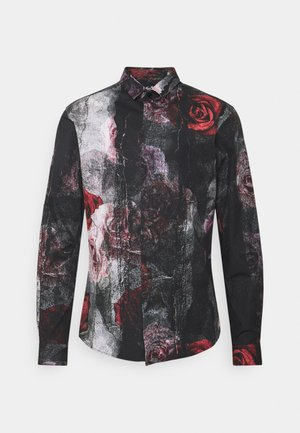 TORN - Camicia - black red