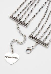 Alpenflüstern - LUZIA - Halsband - silver-coloured/red - 2
