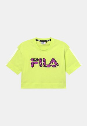 PALOMA CROPPED WIDE - T-shirt z nadrukiem - neon green