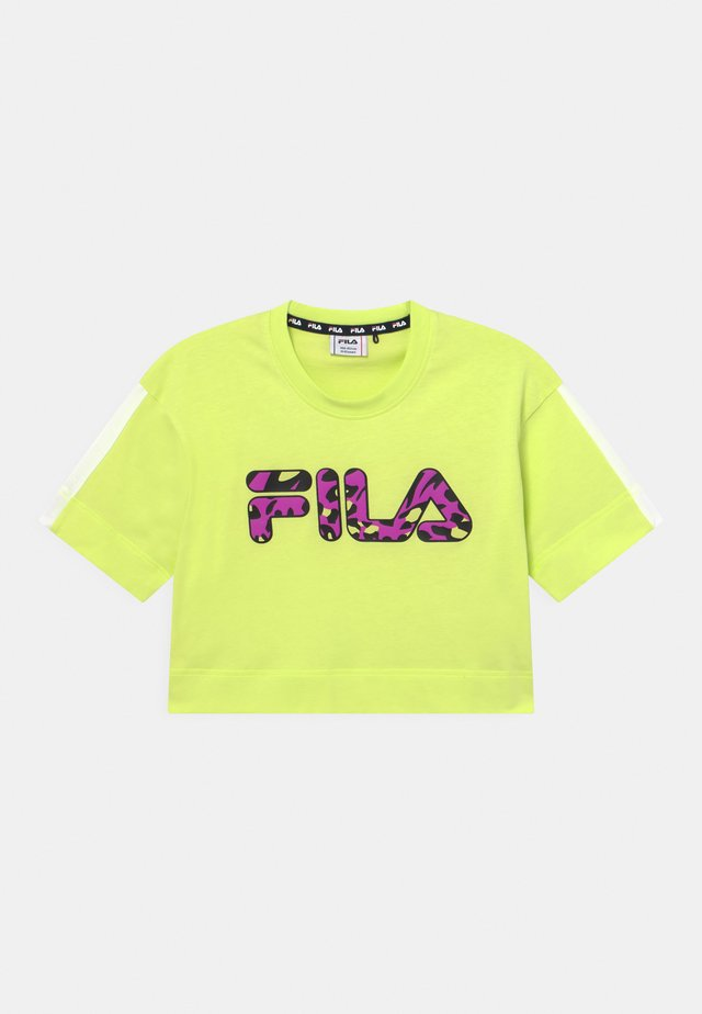 PALOMA CROPPED WIDE - T-shirt print - neon green