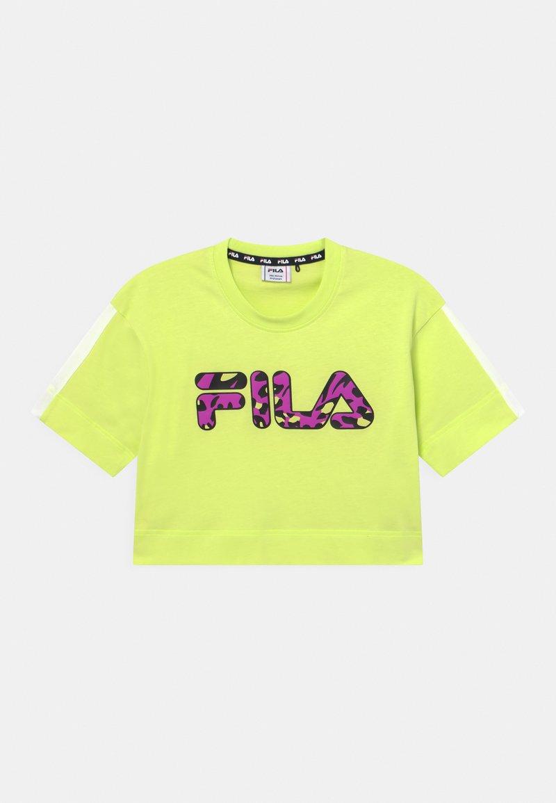 Fila - PALOMA CROPPED WIDE - Print T-shirt - neon green