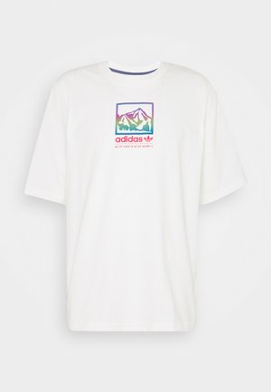 SPORTS INSPIRED LOOSE SHORT SLEEVE TEE - T-Shirt print - off white
