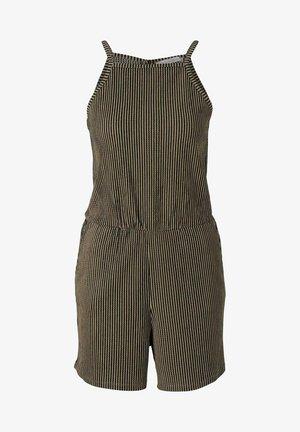Jumpsuit - black beige structured stripe