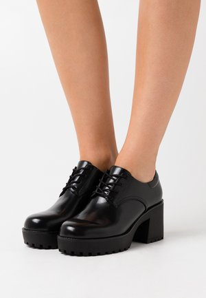 VEGAN VANESSA SHOE - Lace-up heels - black