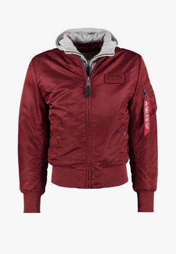 Bomber Jacket - burgundy