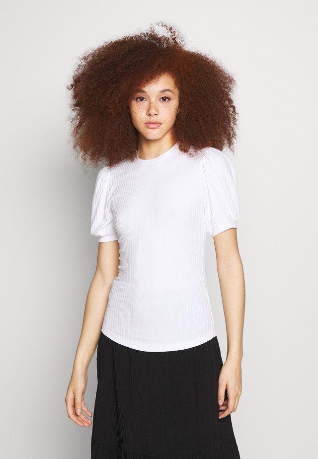 ENFAIREY PUFF TEE - T-shirt - bas - white