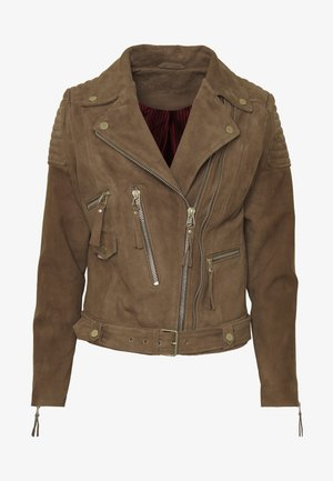 CMROYAL SUEDE - Leather jacket - camel suede