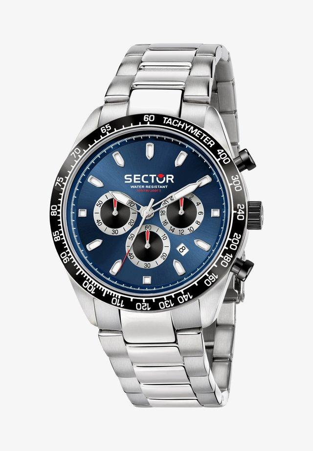 Chronograph watch - blau silber