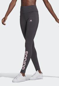 adidas Performance - LIN LEG - Leggings - dgsogr/clpink - 0