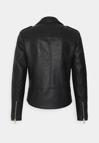 Calvin Klein Jeans - JACKET - Faux leather jacket - black - 2