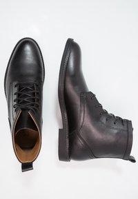 Zign - LEATHER - Šněrovací kotníkové boty - black - 1