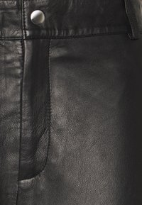 Object Tall - OBJSTEPHANIE PANT - Leather trousers - black - 2