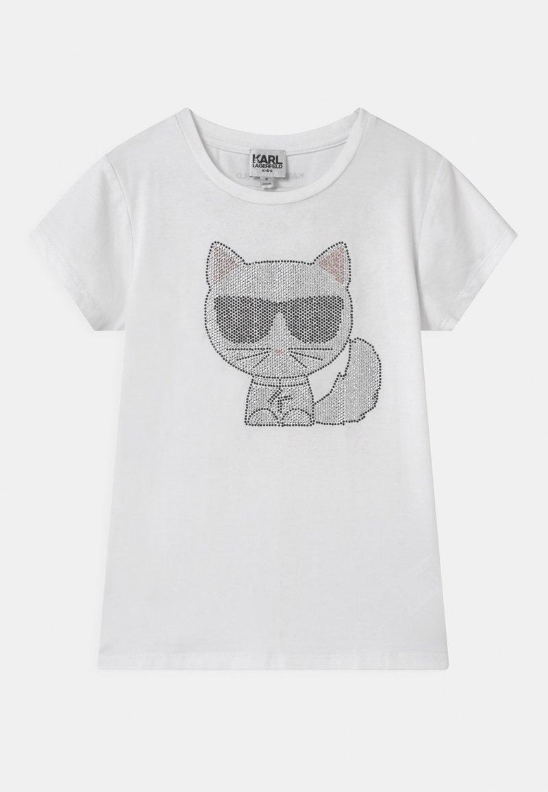 KARL LAGERFELD - SHORT SLEEVES  - Print T-shirt - white