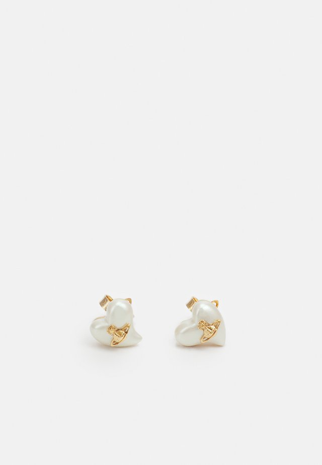 LYNETTE EARRINGS - Orecchini - gold-coloured/cream