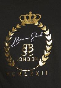 Brave Soul - Print T-shirt - jet black/gold - 4