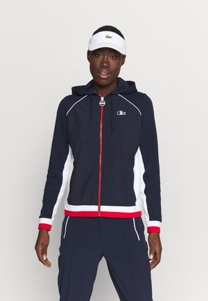OLYMP  - veste en sweat zippée - navy blue/white/red