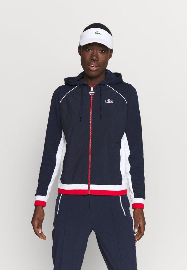 OLYMP  - veste en sweat zippée - navy blue/white/red
