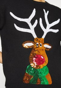 New Look - CHRISTMAS 17.05 WW XMAS SEQUIN REINDEER P82 - Jumper - black - 6