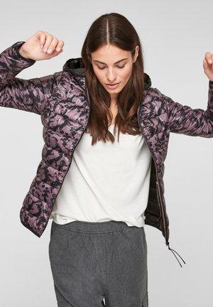 MIT KAPUZE - Winter jacket - purple aop