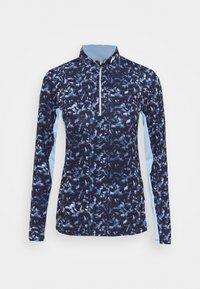 Kjus - WOMEN SUNSHINE SPORT HALF ZIP - Long sleeved top - atalanta blue/cloud blue - 4