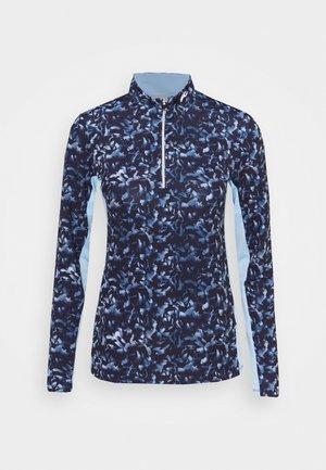WOMEN SUNSHINE SPORT HALF ZIP - Long sleeved top - atalanta blue/cloud blue