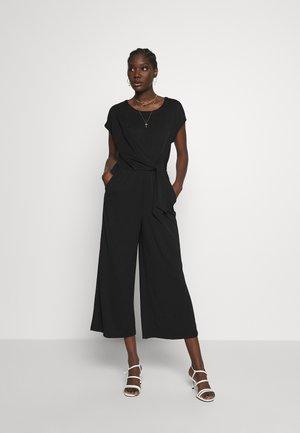 BOATNECK WRAP KNIT SOLID - Tuta jumpsuit - black