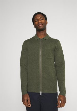 SLHWILL CARDIGAN - Cardigan - forest night melange
