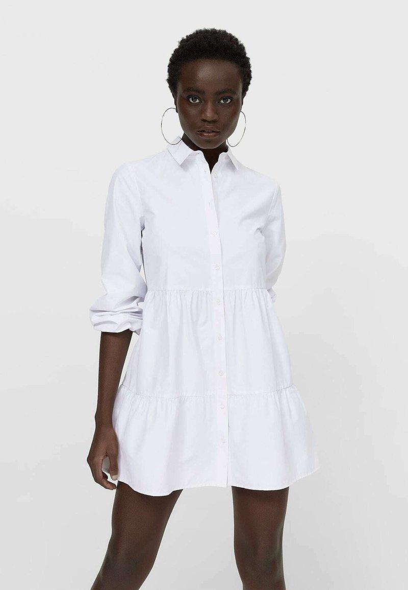 Stradivarius - POPELIN - Shirt dress - white