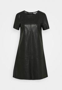TOM TAILOR DENIM - MINI DRESS - Sukienka letnia - deep black - 0