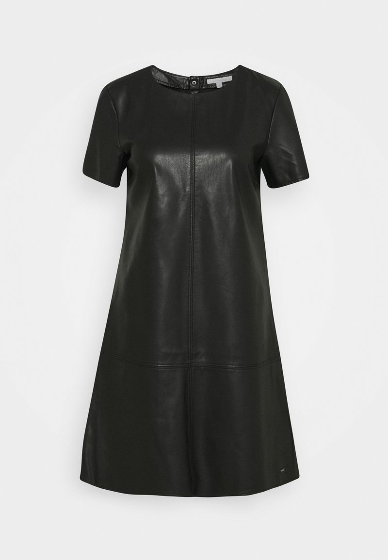 TOM TAILOR DENIM - MINI DRESS - Sukienka letnia - deep black