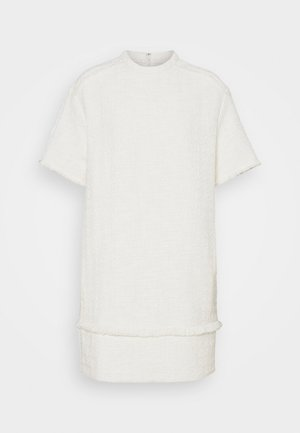 TEXTURED DRESS - Denní šaty - white