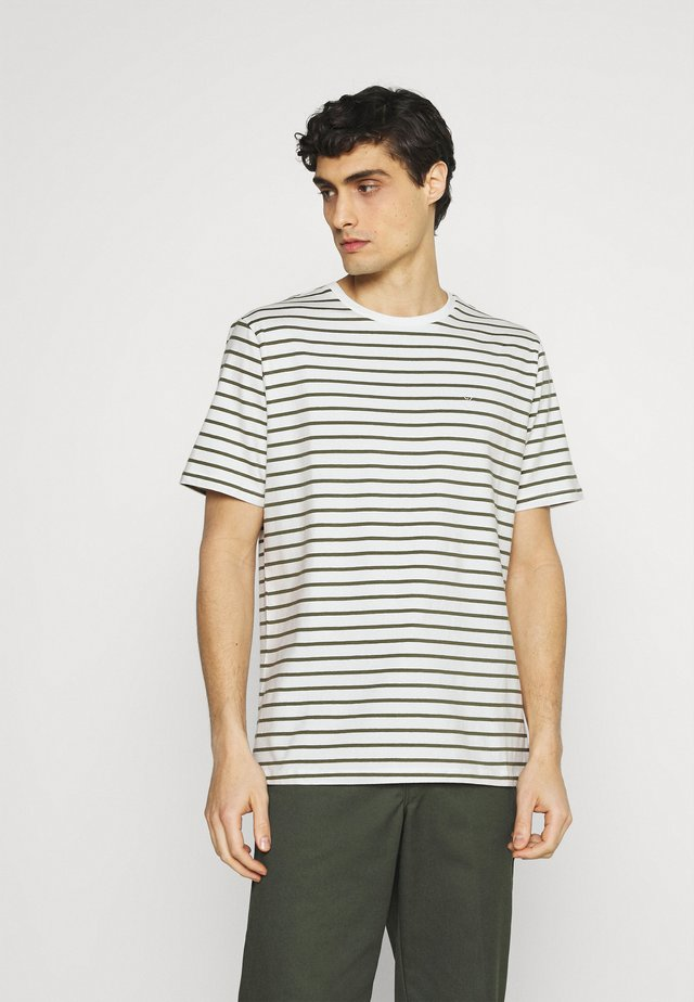TROELS - T-shirt print - olivine