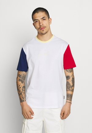 UNISEX - T-Shirt print - white/blue/red