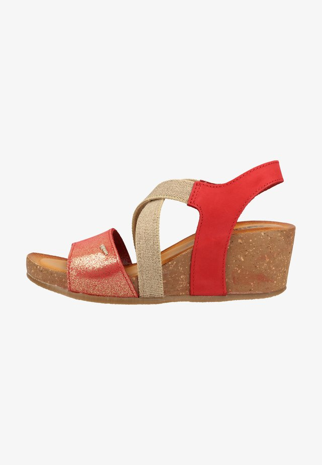 Plateausandalette - rosso