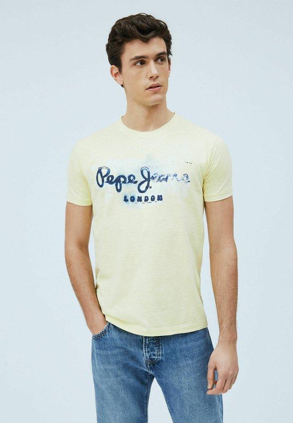 Pepe Jeans GOLDERS - T-shirt z nadrukiem - sorbet lemon/żÓłty Odzież Męska LXKB