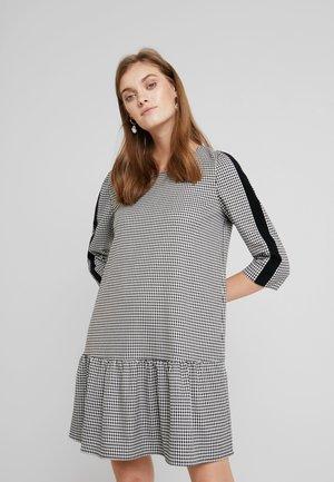 DRESS WITH PEPLUM - Day dress - black
