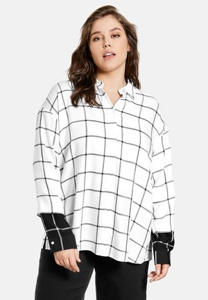 Button-down blouse - offwhite gemustert