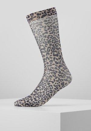 DAGMAR TRANSPARENT LEO PACK 2 - Socks - beige