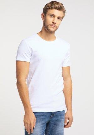 AARON - Jednoduché triko - white