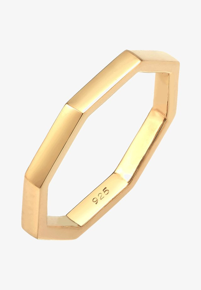 BASIC ANGLED TREND - Bague - gold-coloured