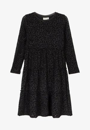 MIDIKLEID LEOPARDENMUSTER - Day dress - black