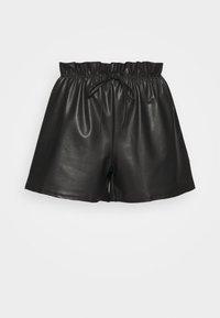 Miss Selfridge - PU PAPERBAG  - Shorts - black - 3