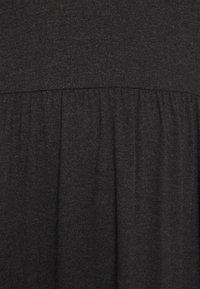 ONLY Carmakoma - CARCARMAKOMA CALF DRESS - Jersey dress - black melange - 5