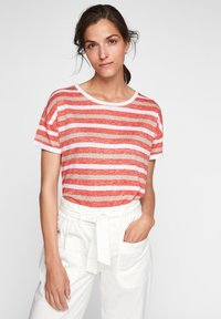 comma casual identity - Print T-shirt - red stripes - 0