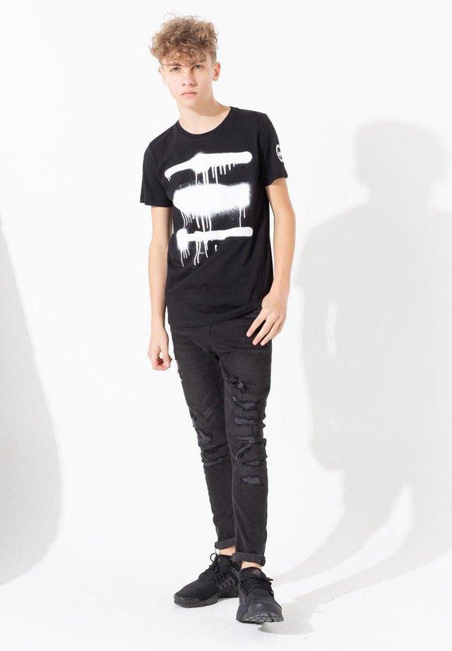 SPRAY DRIP PRINT - T-shirt print - black