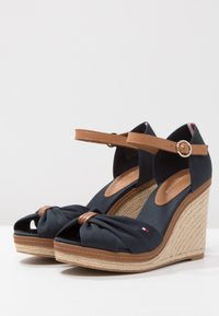 Tommy Hilfiger - ICONIC ELENA SANDAL - High heeled sandals - dark blue