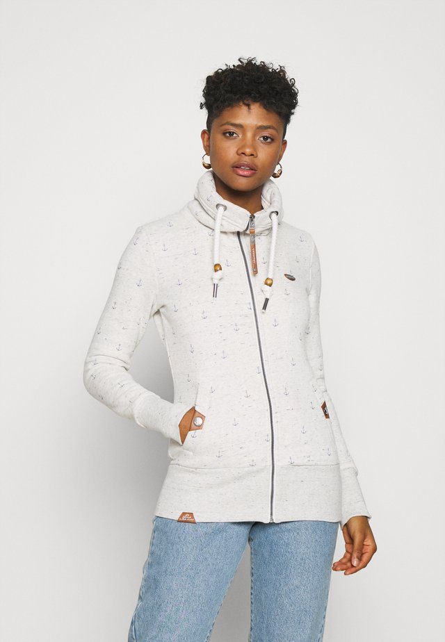 RYLIE MARINA ZIP - veste en sweat zippée - white