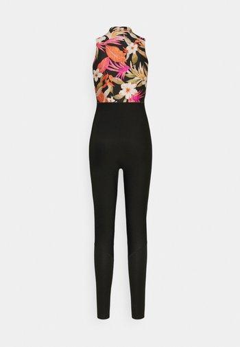 BOMB LONG JANE - Swimsuit - black/pink