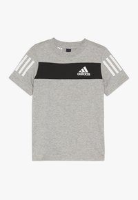 adidas Performance - SID TEE - T-shirt z nadrukiem - mottled grey/black - 0