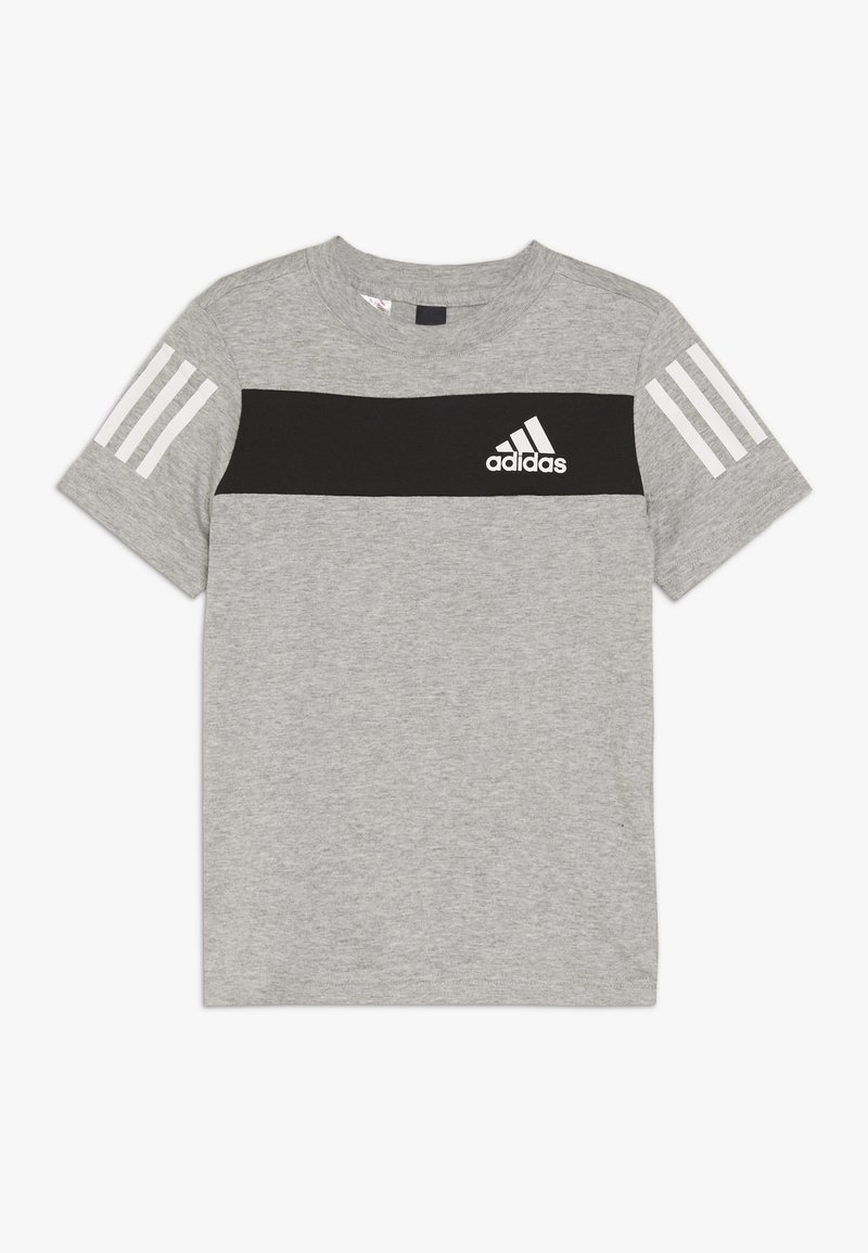 adidas Performance - SID TEE - T-shirt z nadrukiem - mottled grey/black